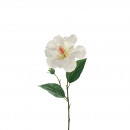 Hibiscuszweig, 1 blossom, length 50cm, white